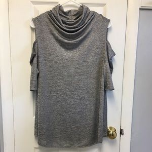 🔥 Cato silver grey cold shoulder top New